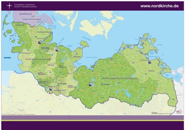 A2-Plakat -Nordkirchenkarte