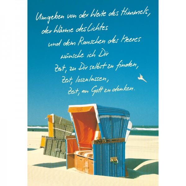 Sommerplakat - Strandkörbe DIN A2