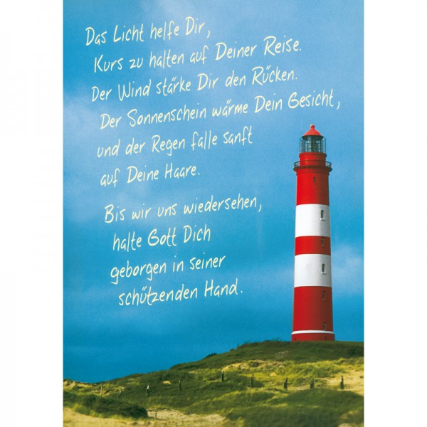 Segensplakat - Leuchtturm