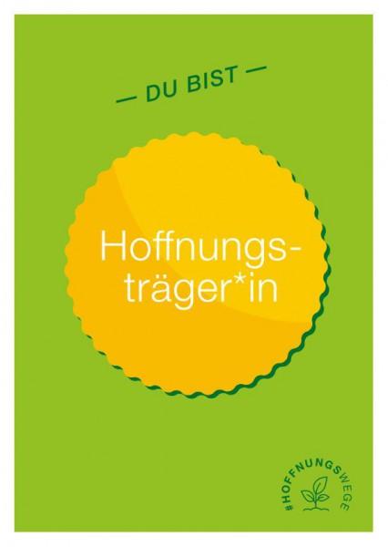 """Postkarten mit Aufkleber """"Du bist Hoffnungsträger*in"""""""