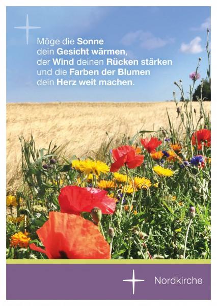 Sommerpostkarte Wiese