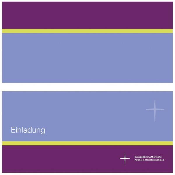 Einladungskarte im Nordkirchen-Design - Querformat