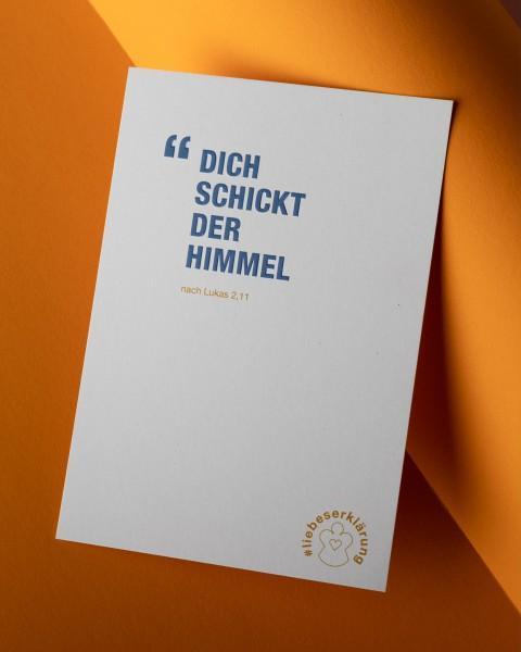 """Komplimente-Postkarten für Weihnachten """"Dich schickt der Himmel"""""""
