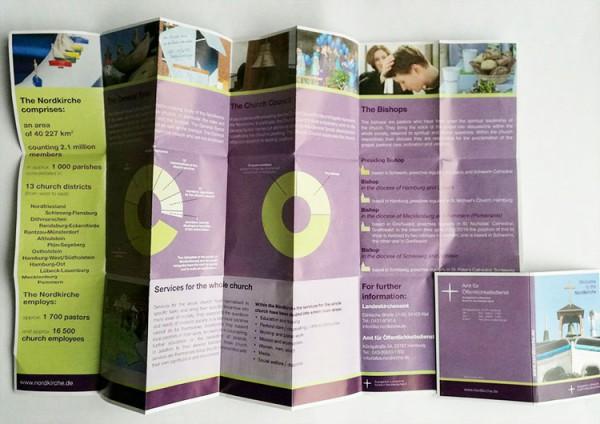 Nordkirchenkarte mit Infos in englischer Sprache, Faltplan