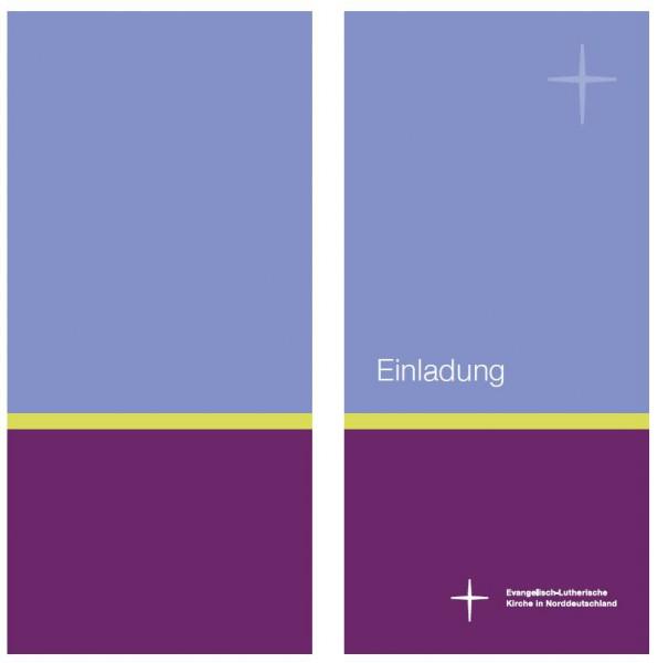 Einladungskarten im Nordkirchen-Design- Hochformat